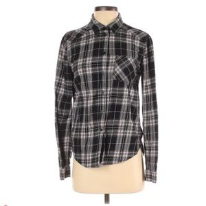 Paige Rosewater Plaid flannel shirt Small